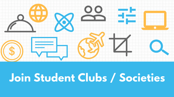 Join Student Clubs Societies