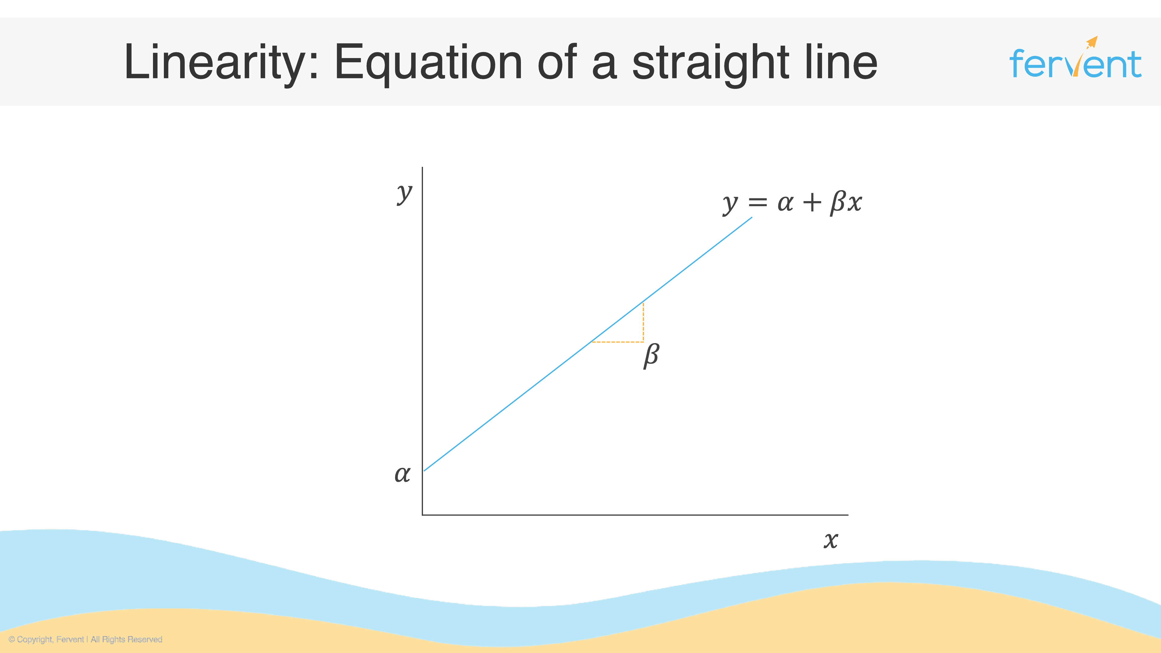 Slide showing equation of a straight line