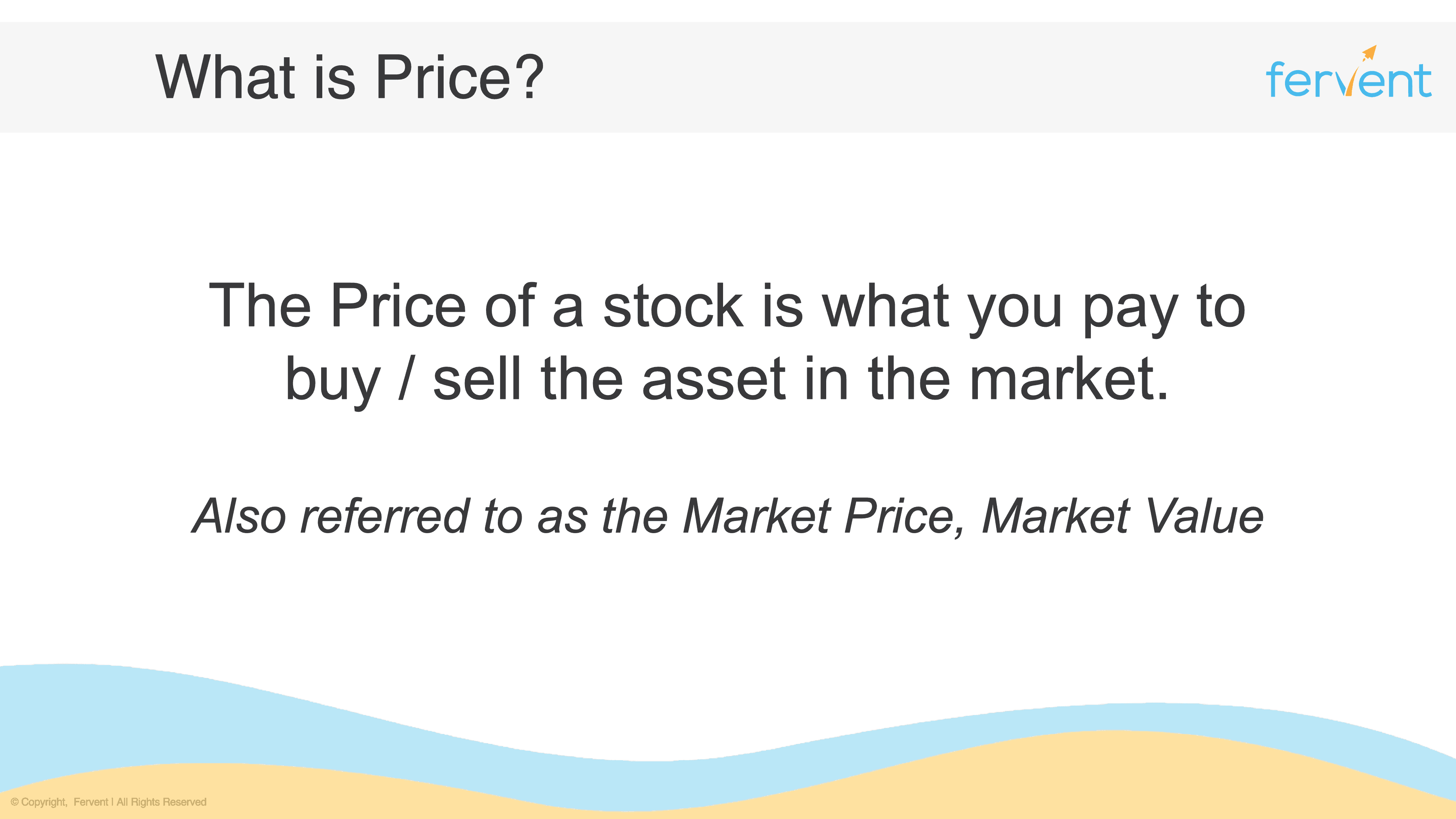 Slide explaining what Price is