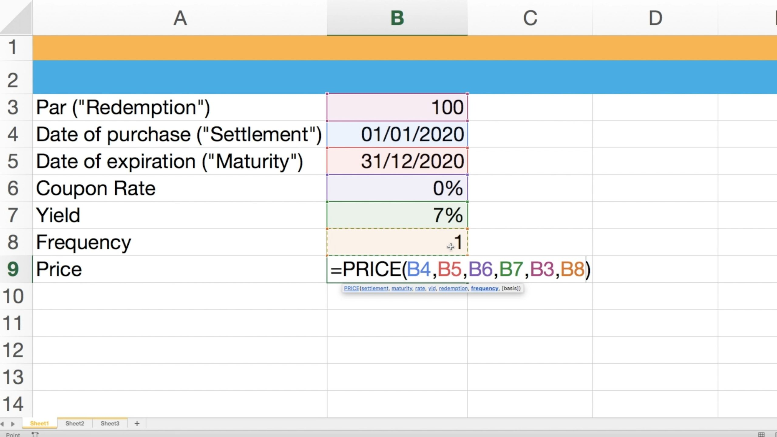 Screenshot showcasing inputted data for valuing Swindon Plc's zero coupon bond